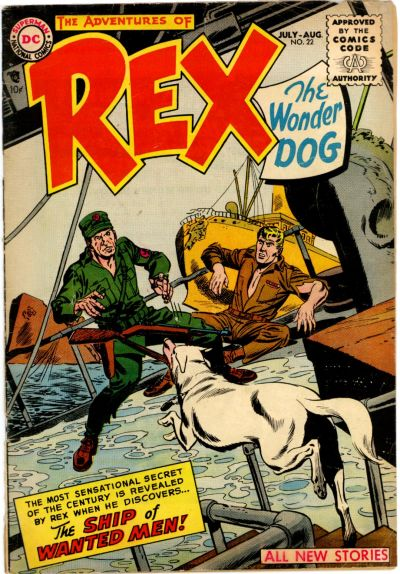 Cover for The Adventures of Rex the Wonder Dog (DC, 1952 series) #22