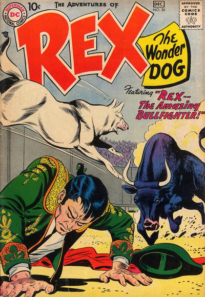 Cover for The Adventures of Rex the Wonder Dog (DC, 1952 series) #36