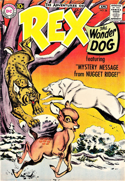 Cover for The Adventures of Rex the Wonder Dog (DC, 1952 series) #38