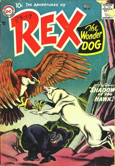 Cover for The Adventures of Rex the Wonder Dog (DC, 1952 series) #39