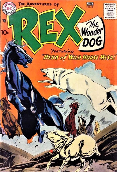 Cover for The Adventures of Rex the Wonder Dog (DC, 1952 series) #40