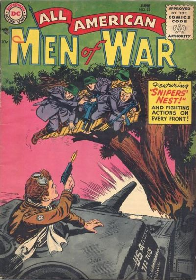 Cover for All-American Men of War (DC, 1953 series) #22