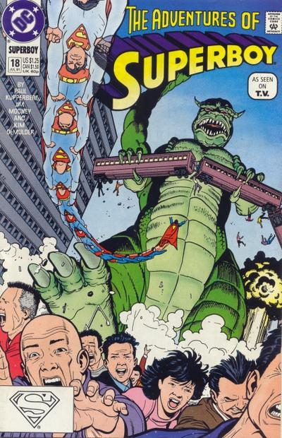 Cover for The Adventures of Superboy (DC, 1991 series) #18