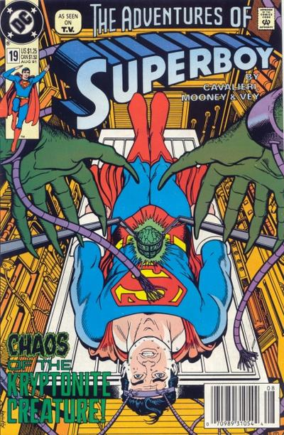 Cover for The Adventures of Superboy (DC, 1991 series) #19 [Newsstand]