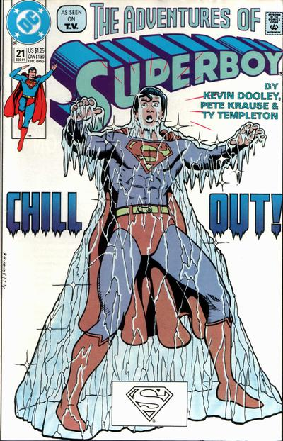 Cover for The Adventures of Superboy (DC, 1991 series) #21