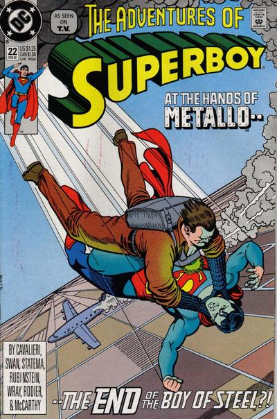Cover for The Adventures of Superboy (DC, 1991 series) #22 [Direct]