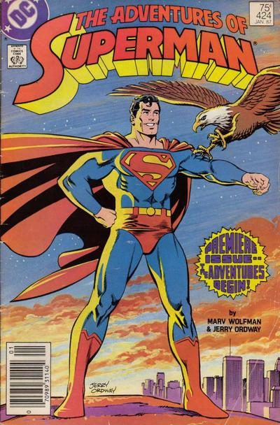 Cover for Adventures of Superman (DC, 1987 series) #424 [Direct]