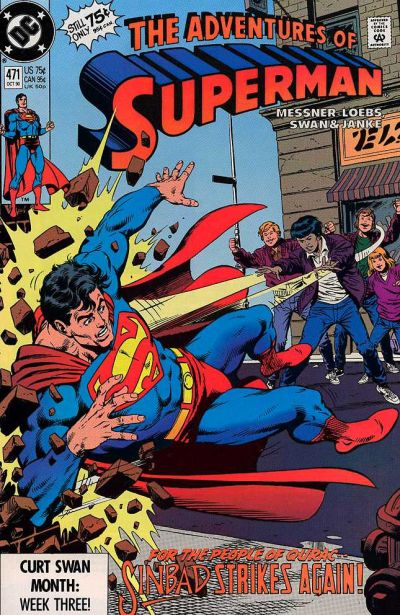 Cover for Adventures of Superman (DC, 1987 series) #471 [Direct]