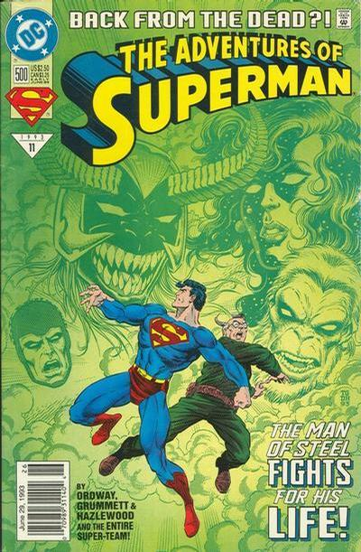 Cover for Adventures of Superman (DC, 1987 series) #500 [Direct]