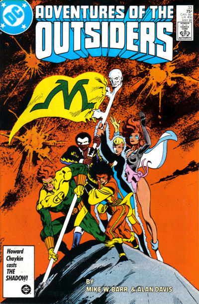Cover for Adventures of the Outsiders (DC, 1986 series) #33 [Newsstand]