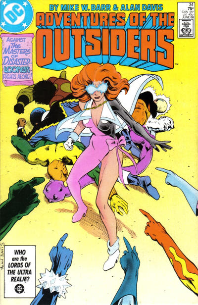 Cover for Adventures of the Outsiders (DC, 1986 series) #34 [Newsstand]