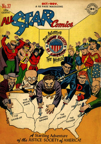 Cover for All-Star Comics (DC, 1940 series) #37