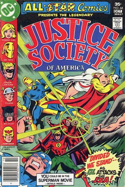Cover for All-Star Comics (DC, 1976 series) #68
