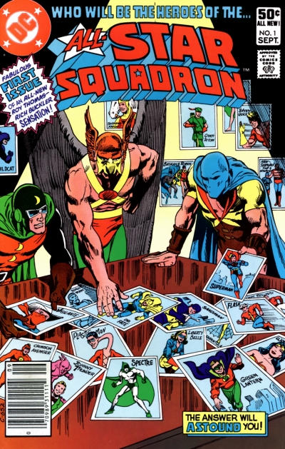 Cover for All-Star Squadron (DC, 1981 series) #1 [Newsstand]