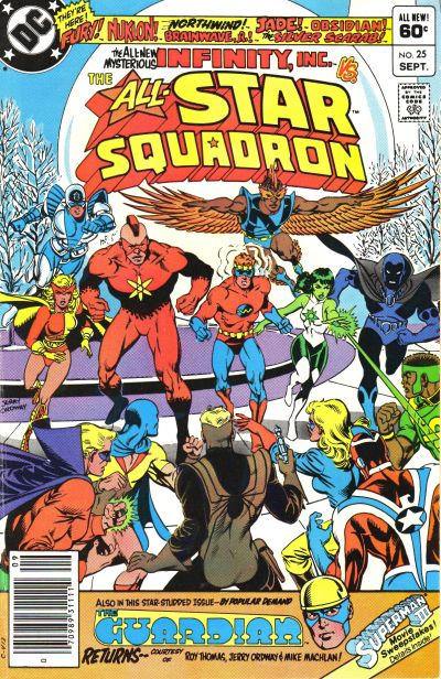 Cover for All-Star Squadron (DC, 1981 series) #25 [Direct Edition]