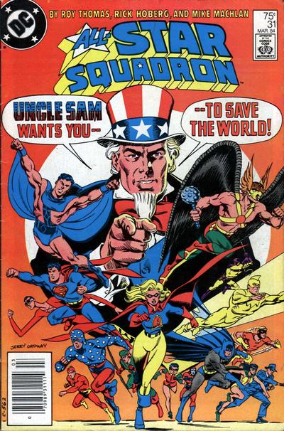 Cover for All-Star Squadron (DC, 1981 series) #31 [Direct-Sales]