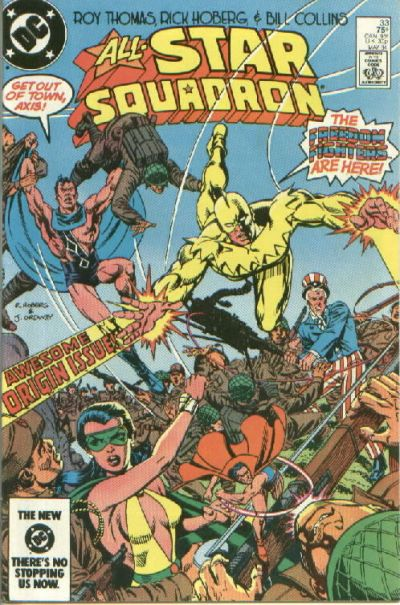 Cover for All-Star Squadron (DC, 1981 series) #33 [Direct]