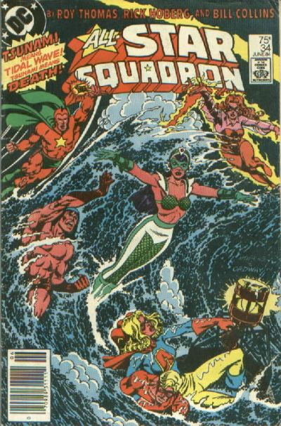 Cover for All-Star Squadron (DC, 1981 series) #34 [Newsstand]