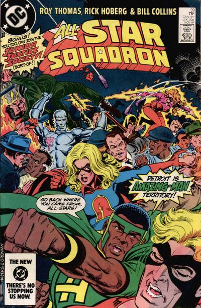 Cover for All-Star Squadron (DC, 1981 series) #39 [Direct-Sales]