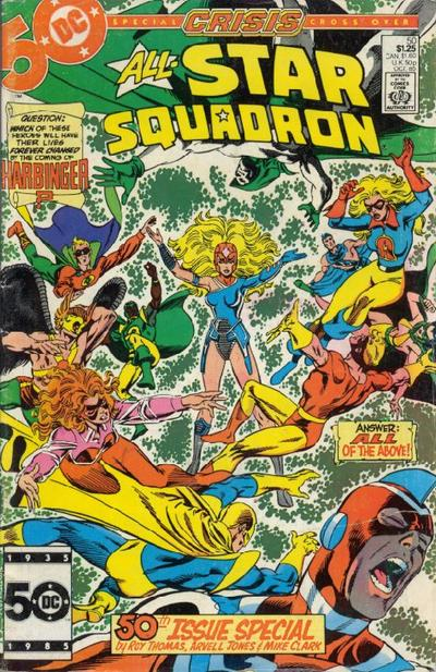 Cover for All-Star Squadron (DC, 1981 series) #50 [Direct Edition]
