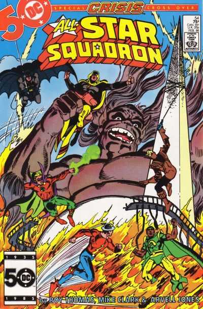 Cover for All-Star Squadron (DC, 1981 series) #54 [Direct Sales]