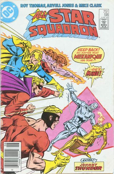 Cover for All-Star Squadron (DC, 1981 series) #58 [Direct Sales]