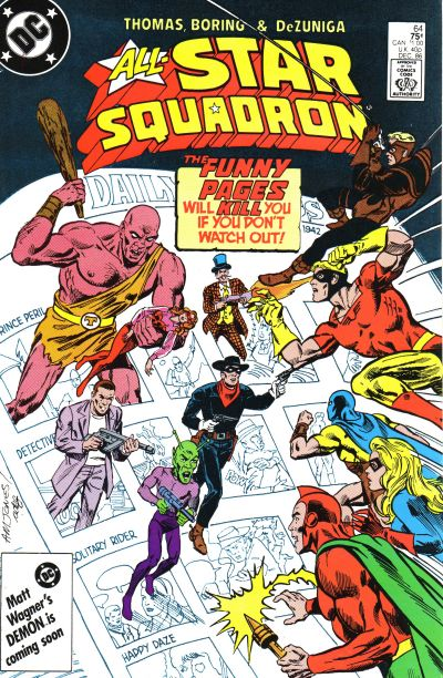 Cover for All-Star Squadron (DC, 1981 series) #64 [Newsstand Edition]