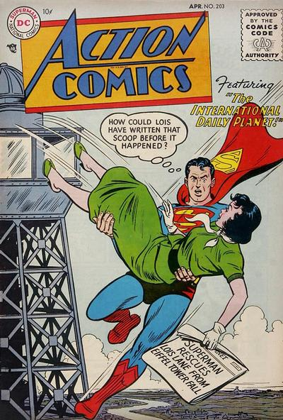 Cover for Action Comics (DC, 1938 series) #203
