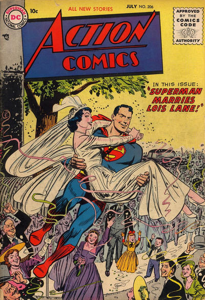Cover for Action Comics (DC, 1938 series) #206