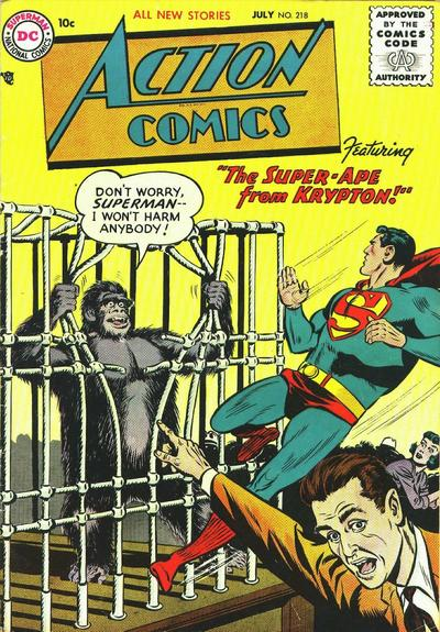 Cover for Action Comics (DC, 1938 series) #218