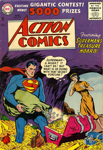 Cover for Action Comics (DC, 1938 series) #219
