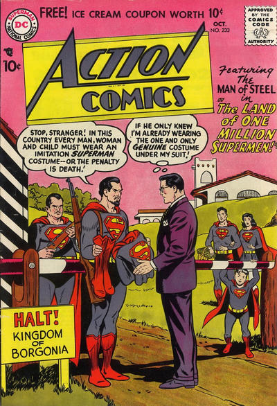 Cover for Action Comics (DC, 1938 series) #233