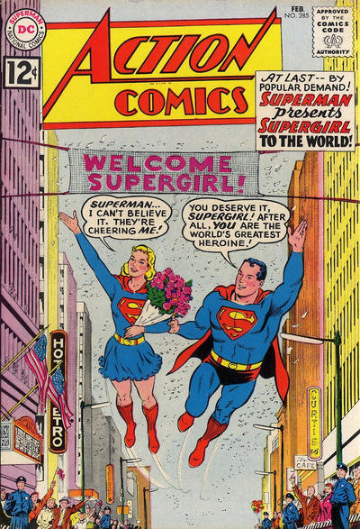 Cover for Action Comics (DC, 1938 series) #285