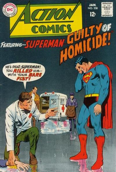 Cover for Action Comics (DC, 1938 series) #358