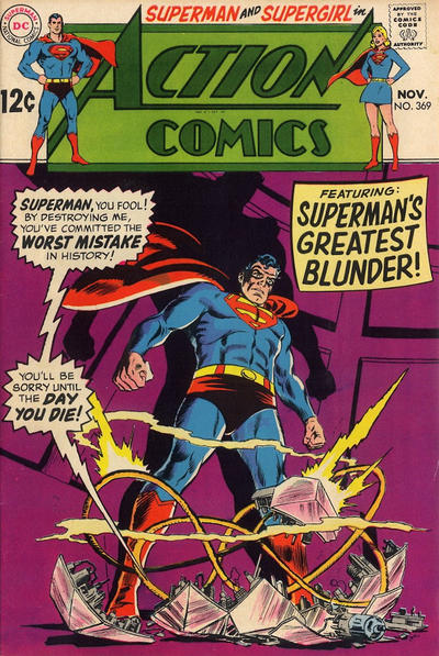 Cover for Action Comics (DC, 1938 series) #369