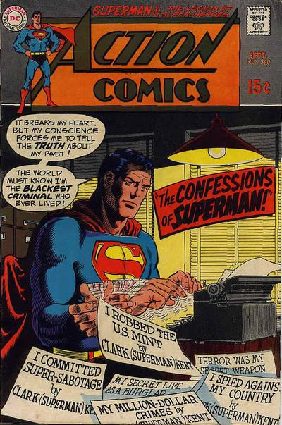 Cover for Action Comics (DC, 1938 series) #380