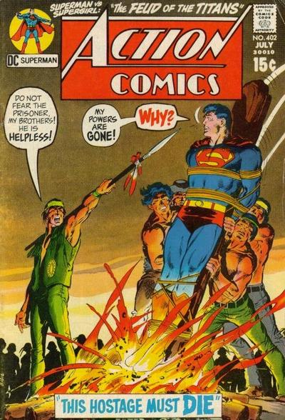 Cover for Action Comics (DC, 1938 series) #402 [Pence Variant]