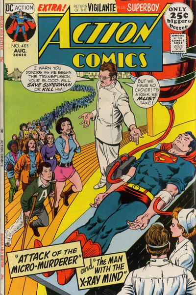 Cover for Action Comics (DC, 1938 series) #403