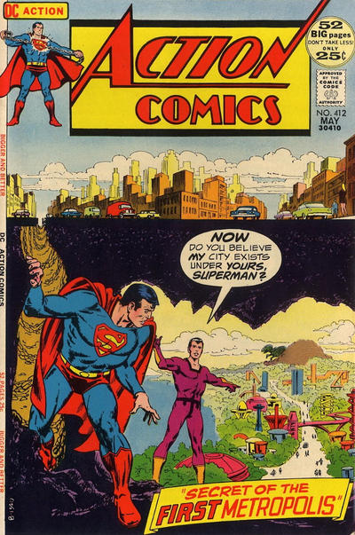 Cover for Action Comics (DC, 1938 series) #412