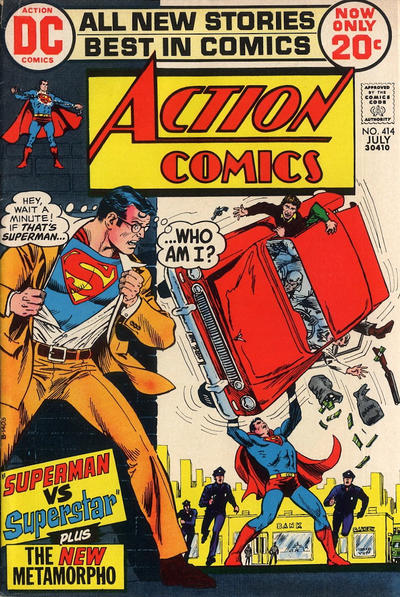 Cover for Action Comics (DC, 1938 series) #414