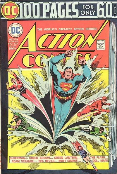 Cover for Action Comics (DC, 1938 series) #437