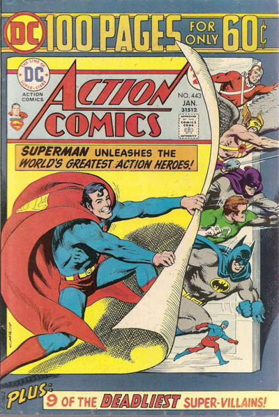 Cover for Action Comics (DC, 1938 series) #443