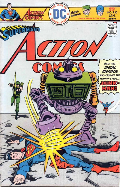 Cover for Action Comics (DC, 1938 series) #455