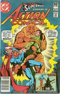 Cover Thumbnail for Action Comics (DC, 1938 series) #523 [Newsstand]