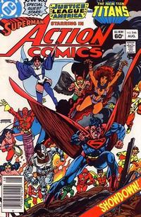 Cover Thumbnail for Action Comics (DC, 1938 series) #546 [Newsstand]