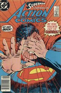 Cover Thumbnail for Action Comics (DC, 1938 series) #558 [Newsstand]