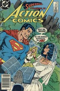Cover Thumbnail for Action Comics (DC, 1938 series) #567 [Newsstand Edition]