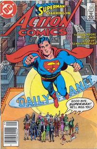 Cover for Action Comics (DC, 1938 series) #583 [Newsstand]