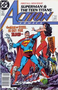 Cover Thumbnail for Action Comics (DC, 1938 series) #584 [Newsstand]