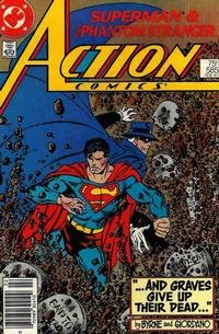 Cover Thumbnail for Action Comics (DC, 1938 series) #585 [Newsstand]